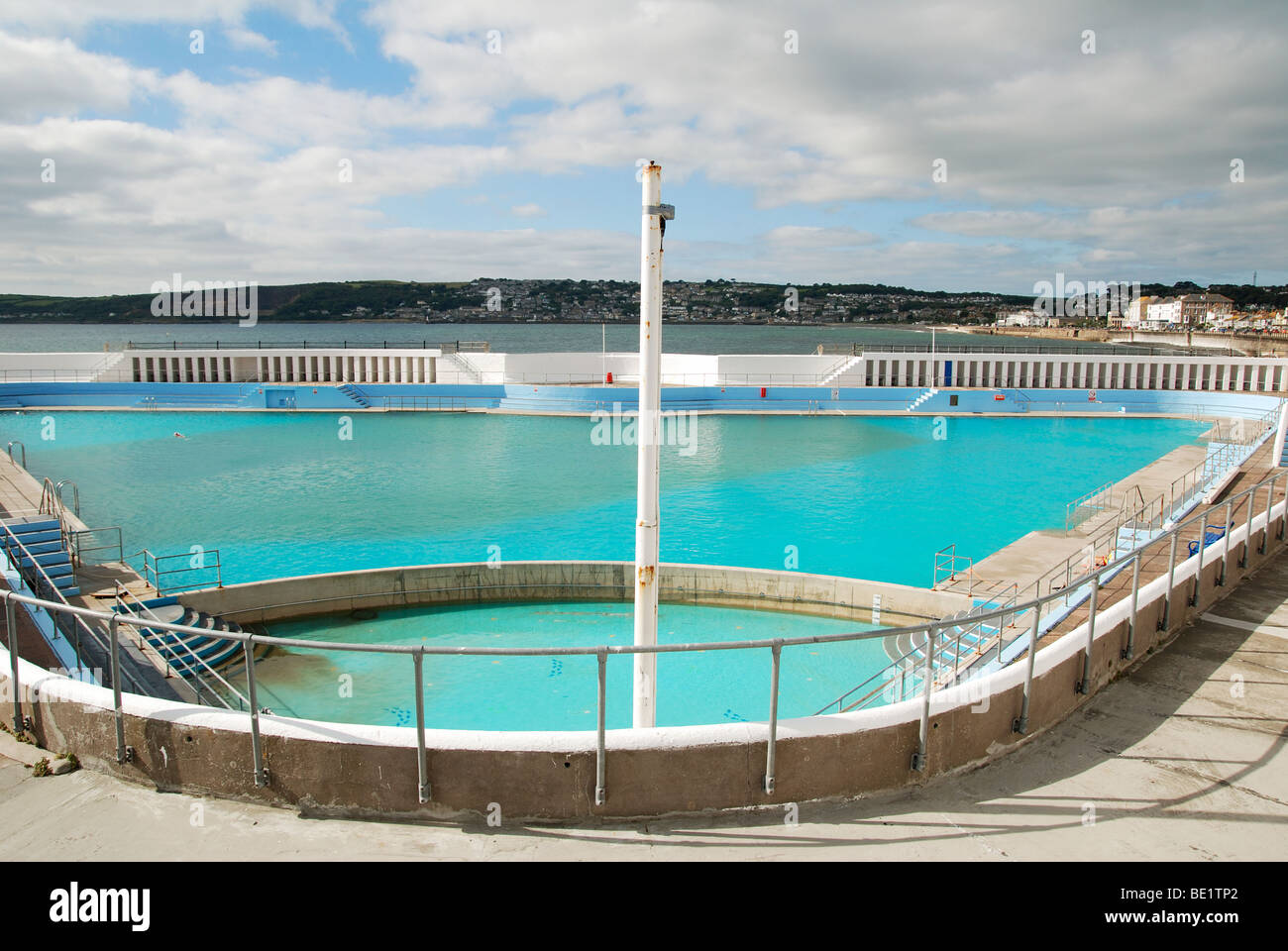 The Open Air Jubilee Swimming Pool On The Seafront At Penzance In Stock Photo 25856938 Alamy