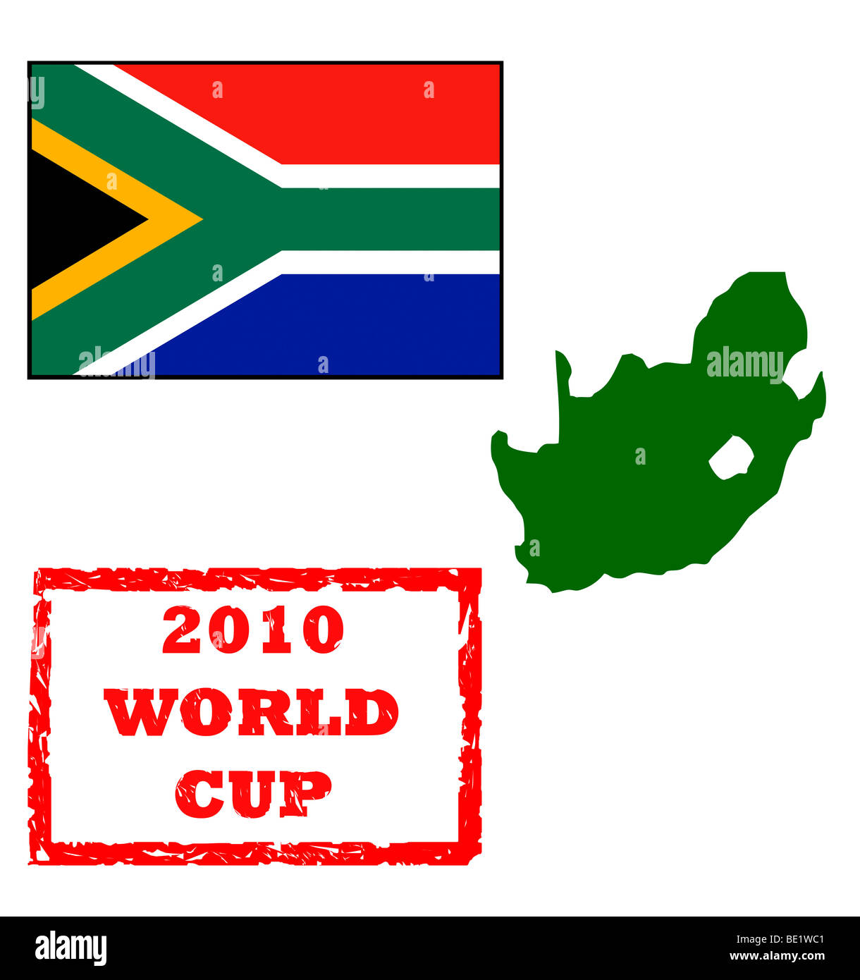 Map Of Africa 2010.Graphic Elements For 2010 World Cup Passport Stamp South Africa