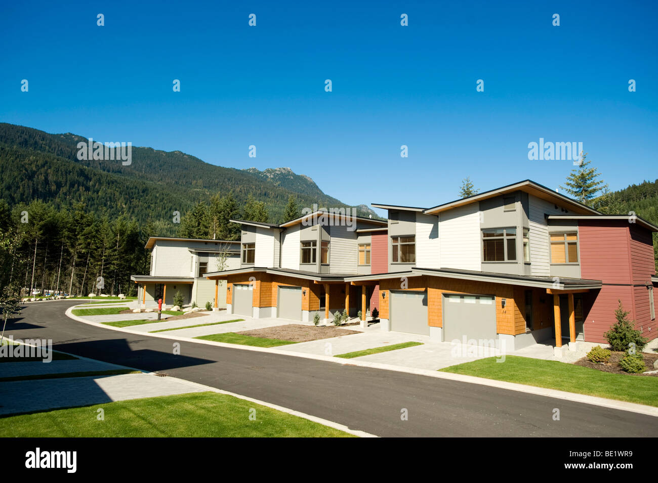 The 2010 Olympic Athlete's Village.  Whistler BC, Canada - Stock Image