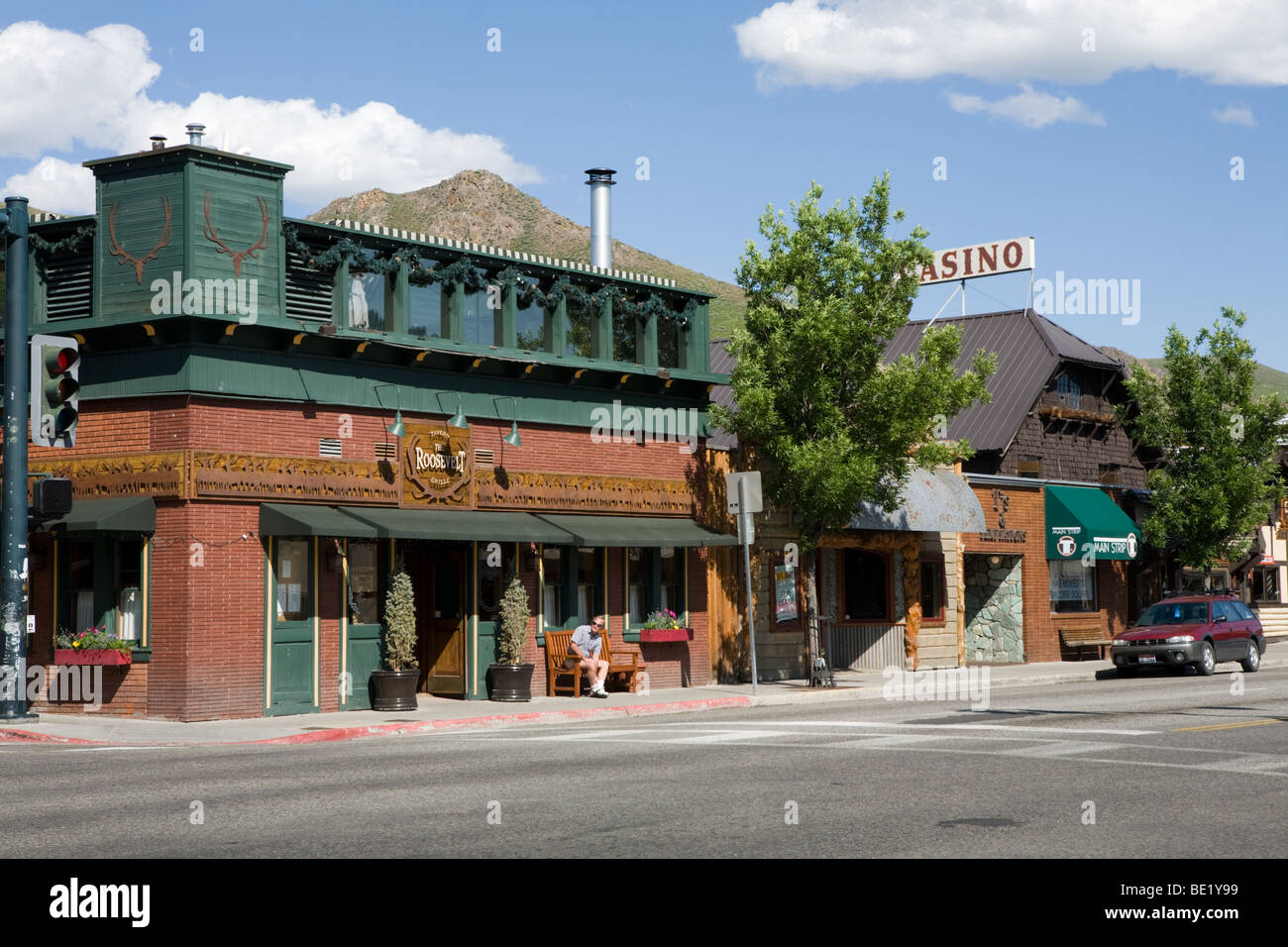 Business district of Sun Valley, Idaho - Stock Image