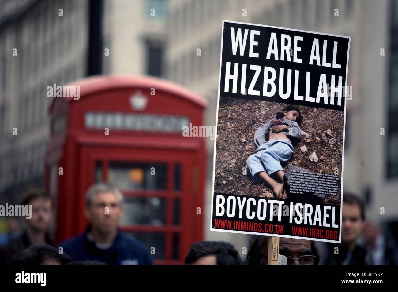 Al Quds demonstration against the state of Israel, held in London on September 13, 2009. - Stock Image