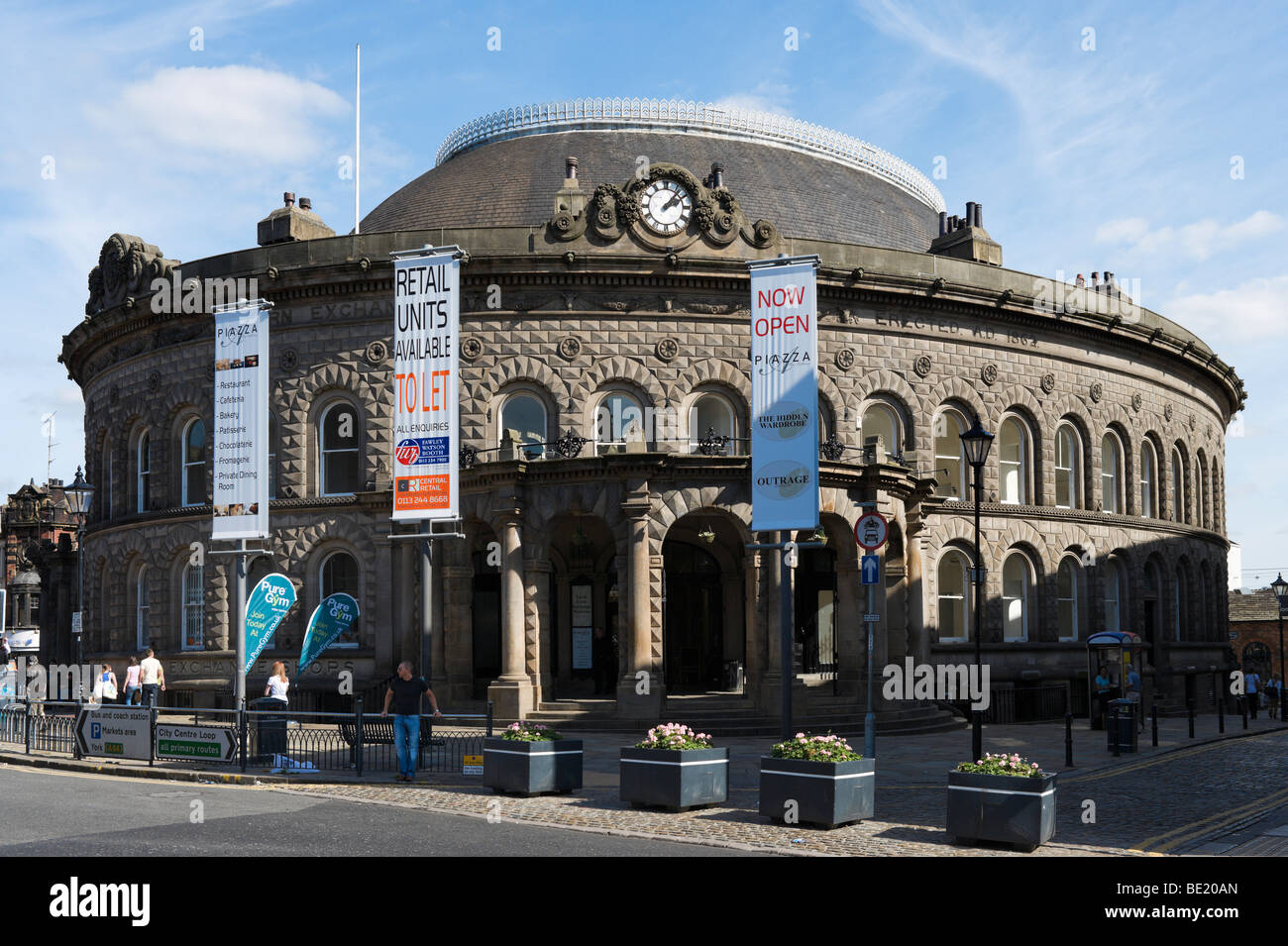 The Corn Exchange, built by the local architect Cuthbert Brodrick in 1863, Leeds, West Yorkshire, England - Stock Image