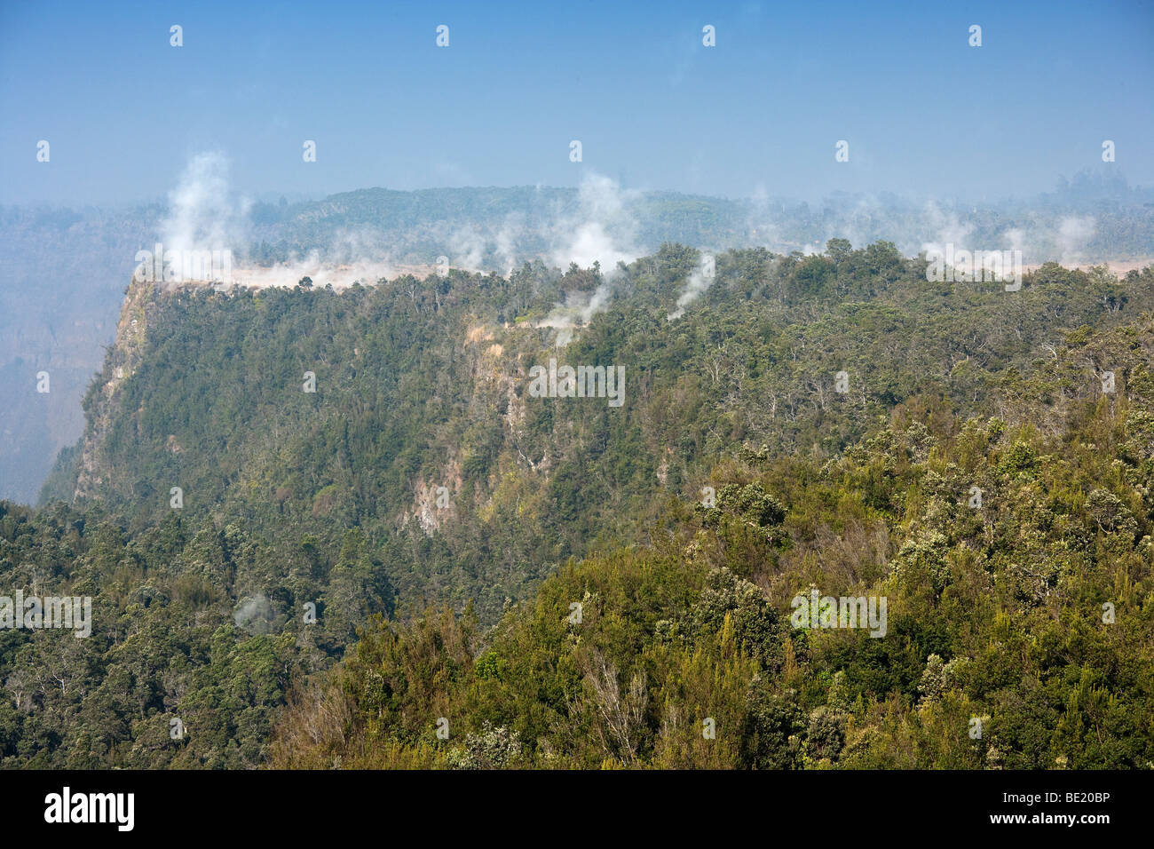 Steam vents at Volcano National Park, Hawaii. - Stock Image