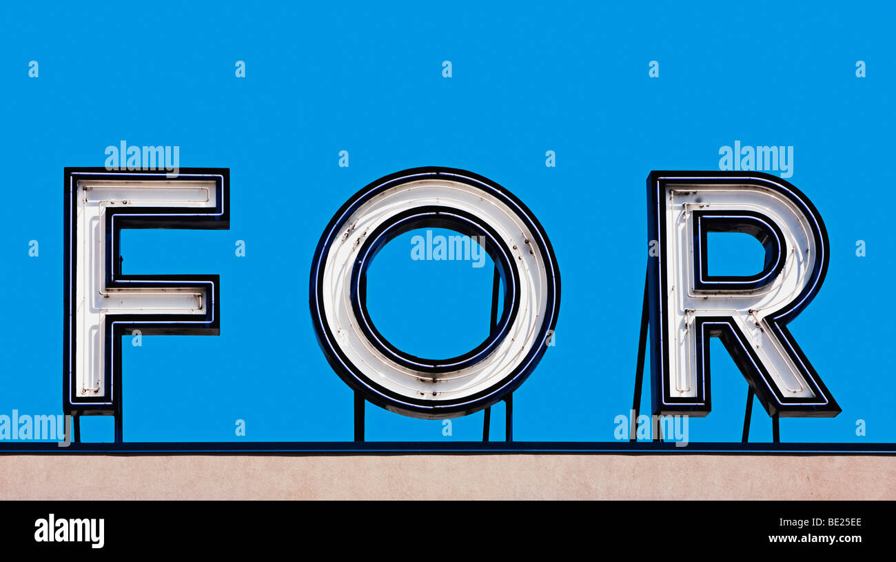 for neon sign - Stock Image