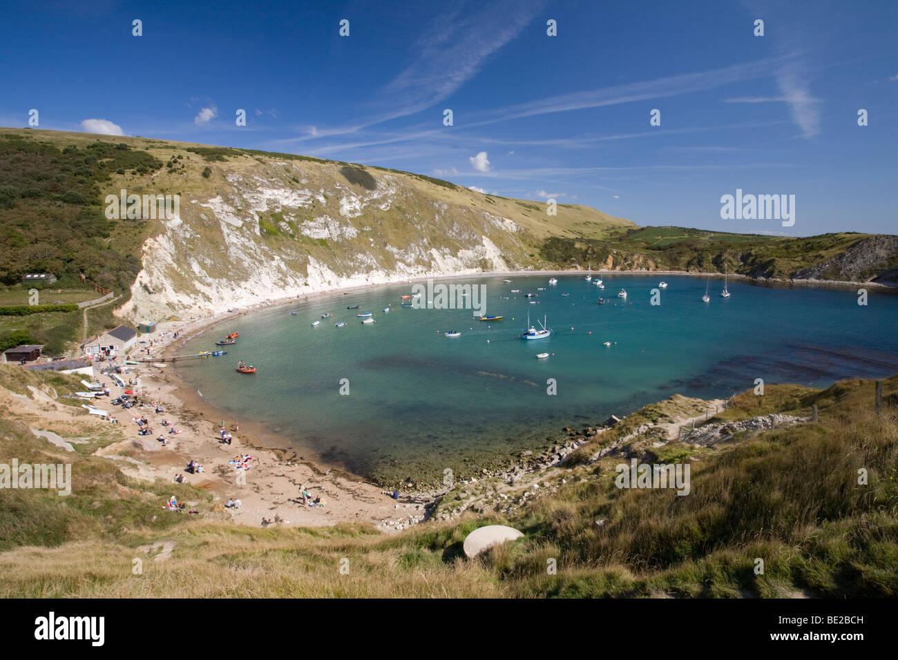 Lulworth Cove, Dorset, Jurassic Coast World Heritage Site, England, UK - Stock Image