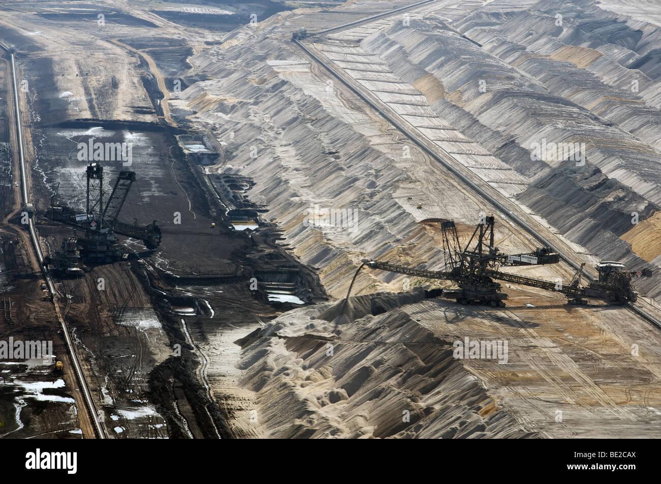 Open cast coal mine, Western Germany Stock Photo