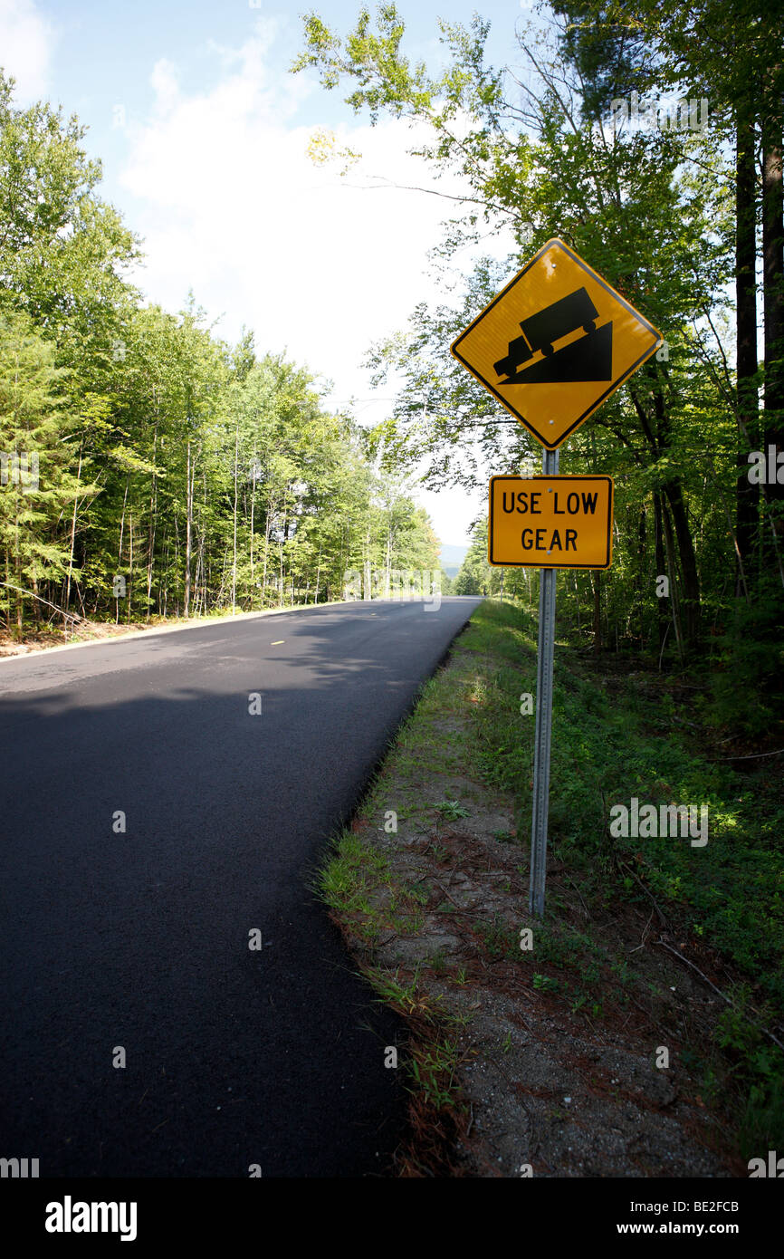 use low gear traffic sign - Stock Image