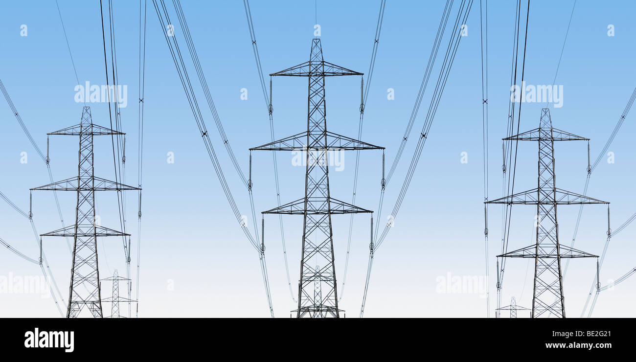 National Grid Electricity Pylons, Oxfordshire, United Kingdom. - Stock Image