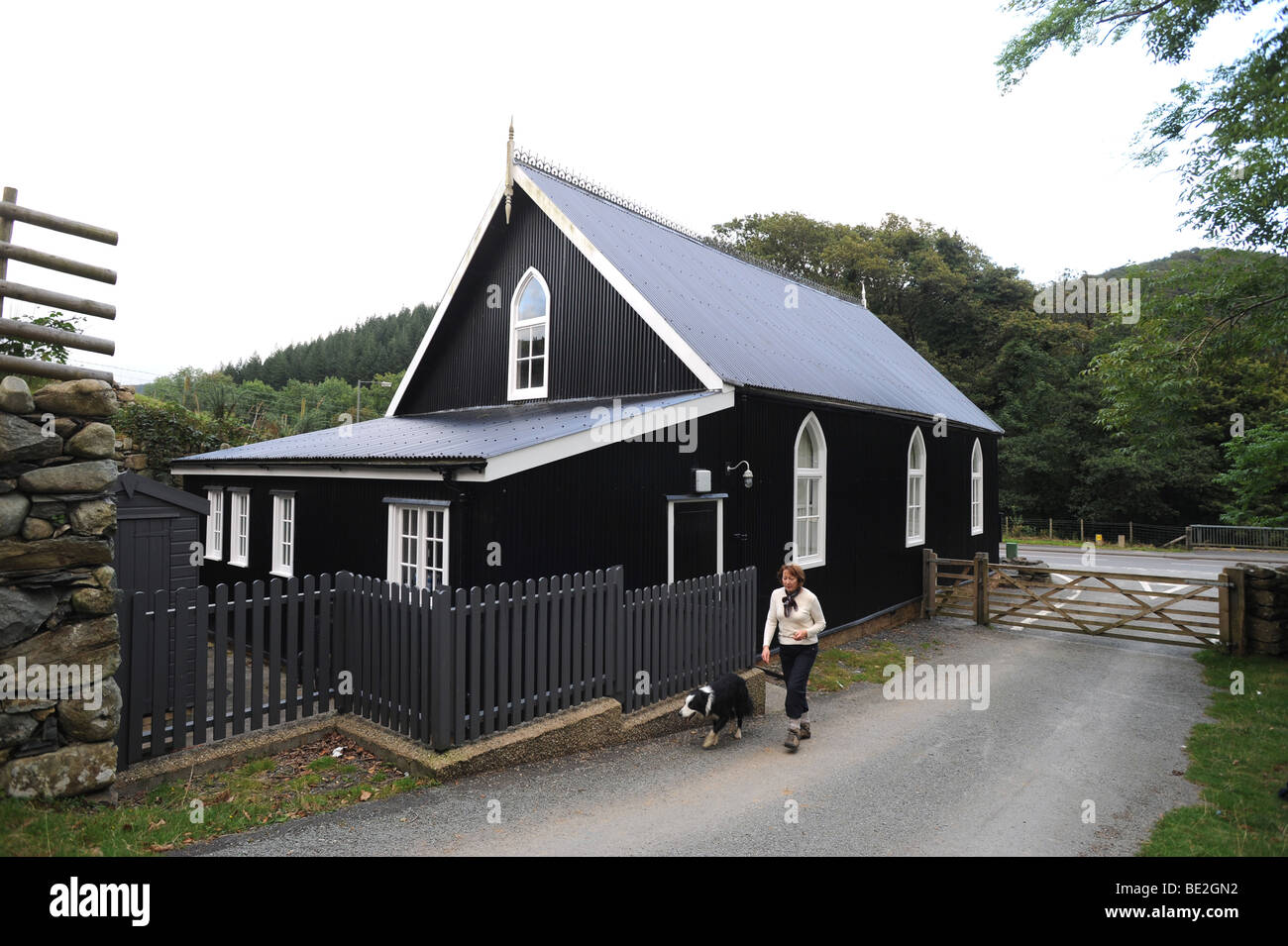 Ganllwyd Village Hall and mission hall Gwynedd Wales Great Britain - Stock Image