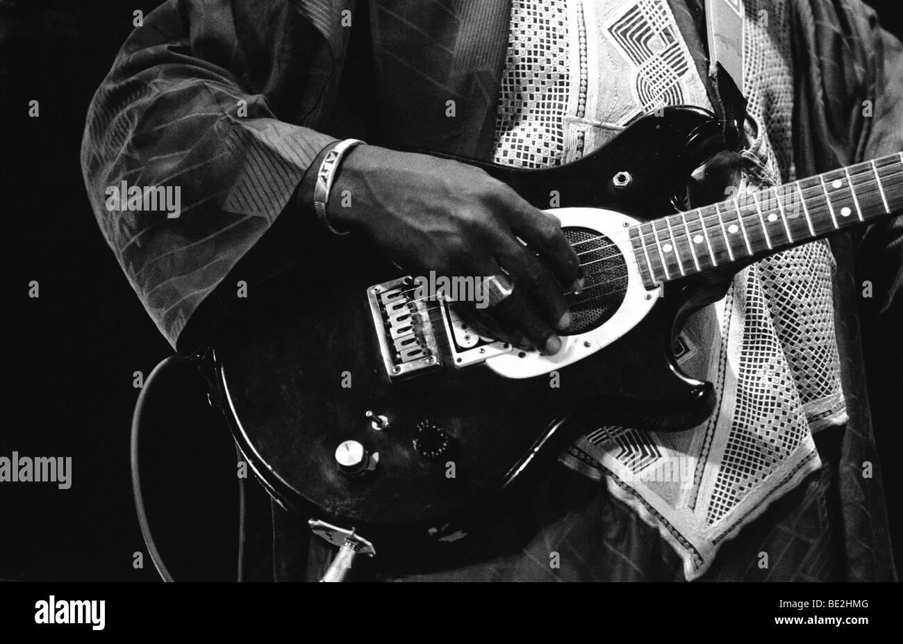 Ali Farka Toure playing the Hackney Empire, London 1991 Stock Photo