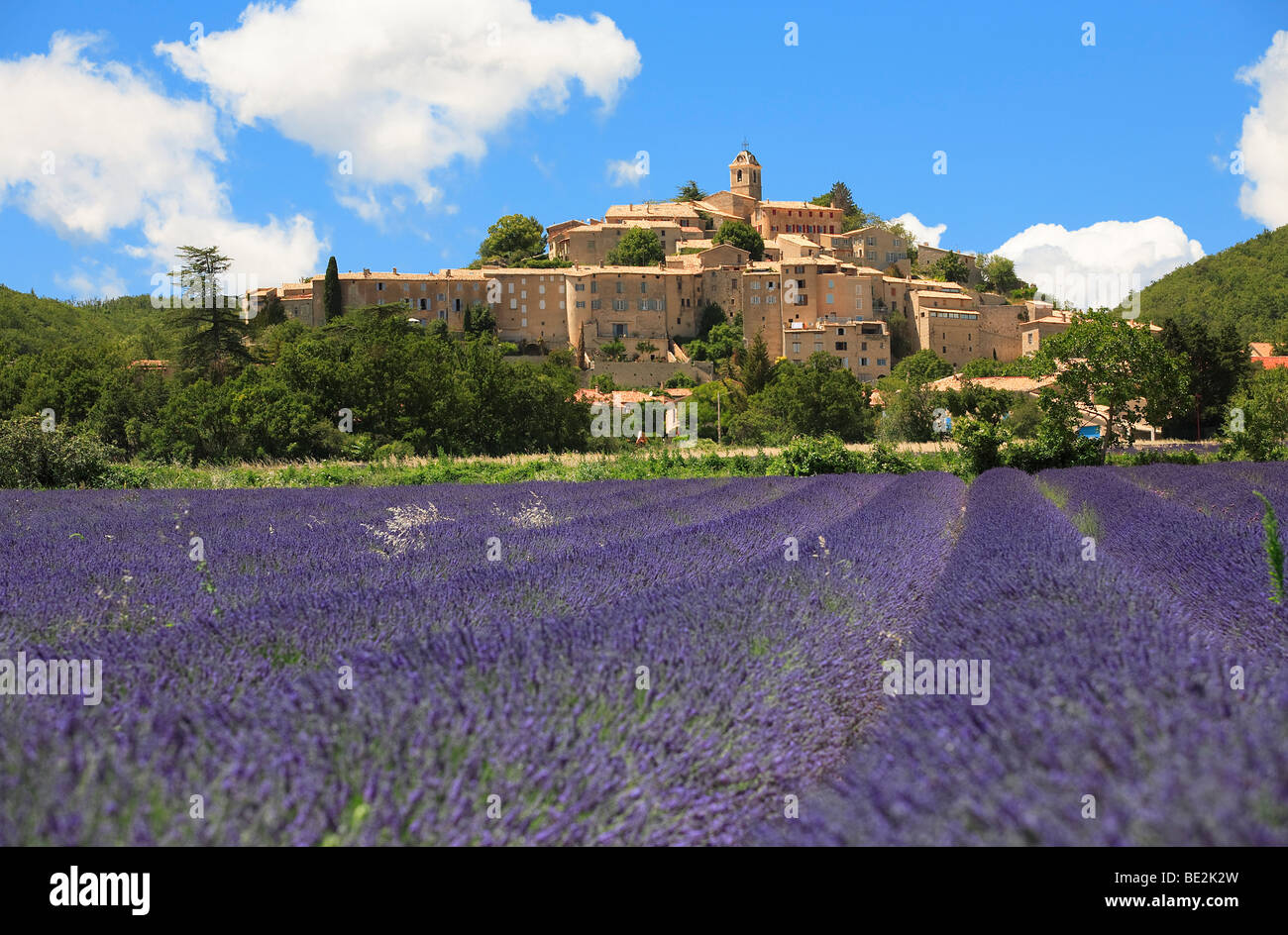 VILLAGE OF BANON, PROVENCE, FRANCE - Stock Image