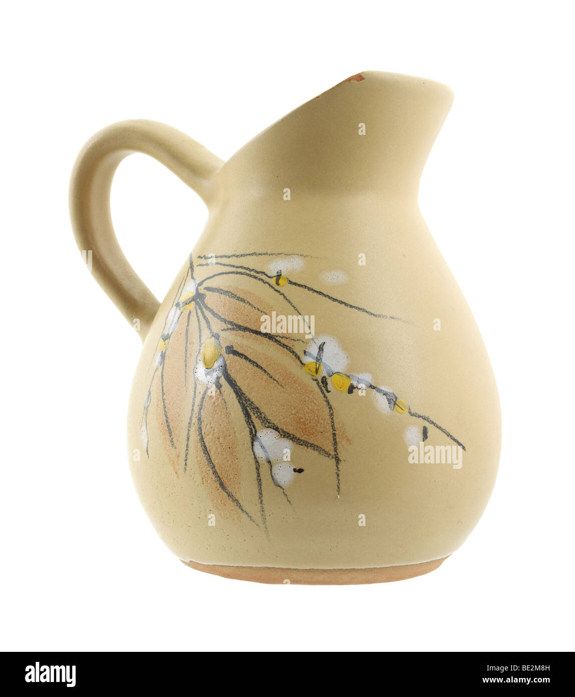 Pitcher with floral and leaf design Stock Photo