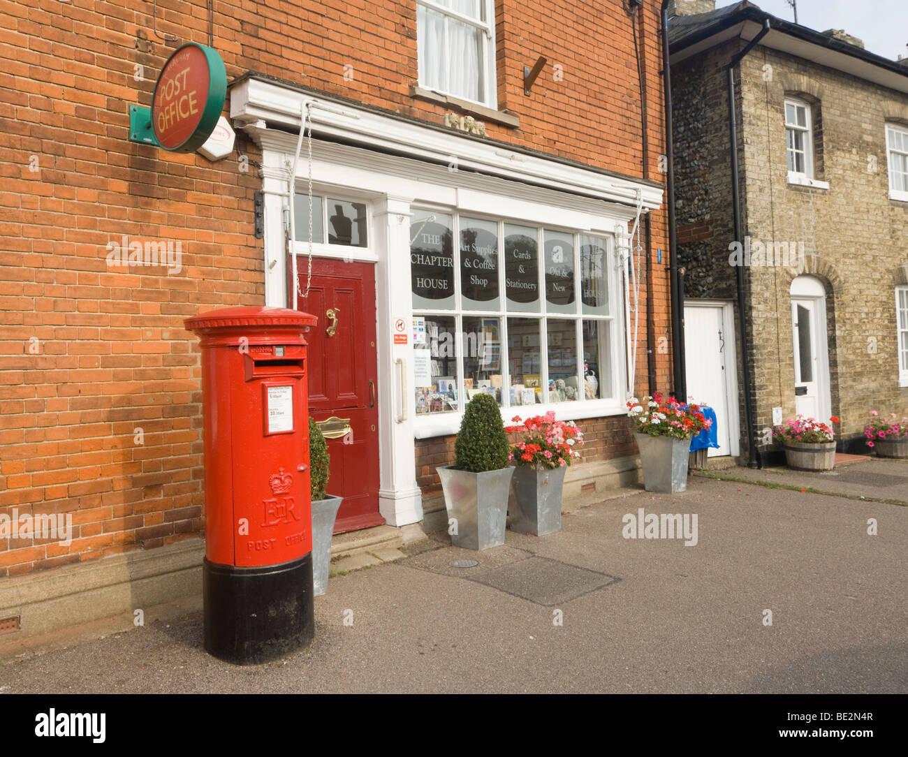 Post Office Lavenham Suffolk UK - Stock Image