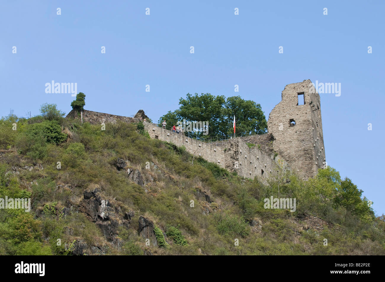 Ruins of Burg Are castle, Altenahr, Ahrtal valley, Rhineland-Palatinate, Germany, Europe - Stock Image