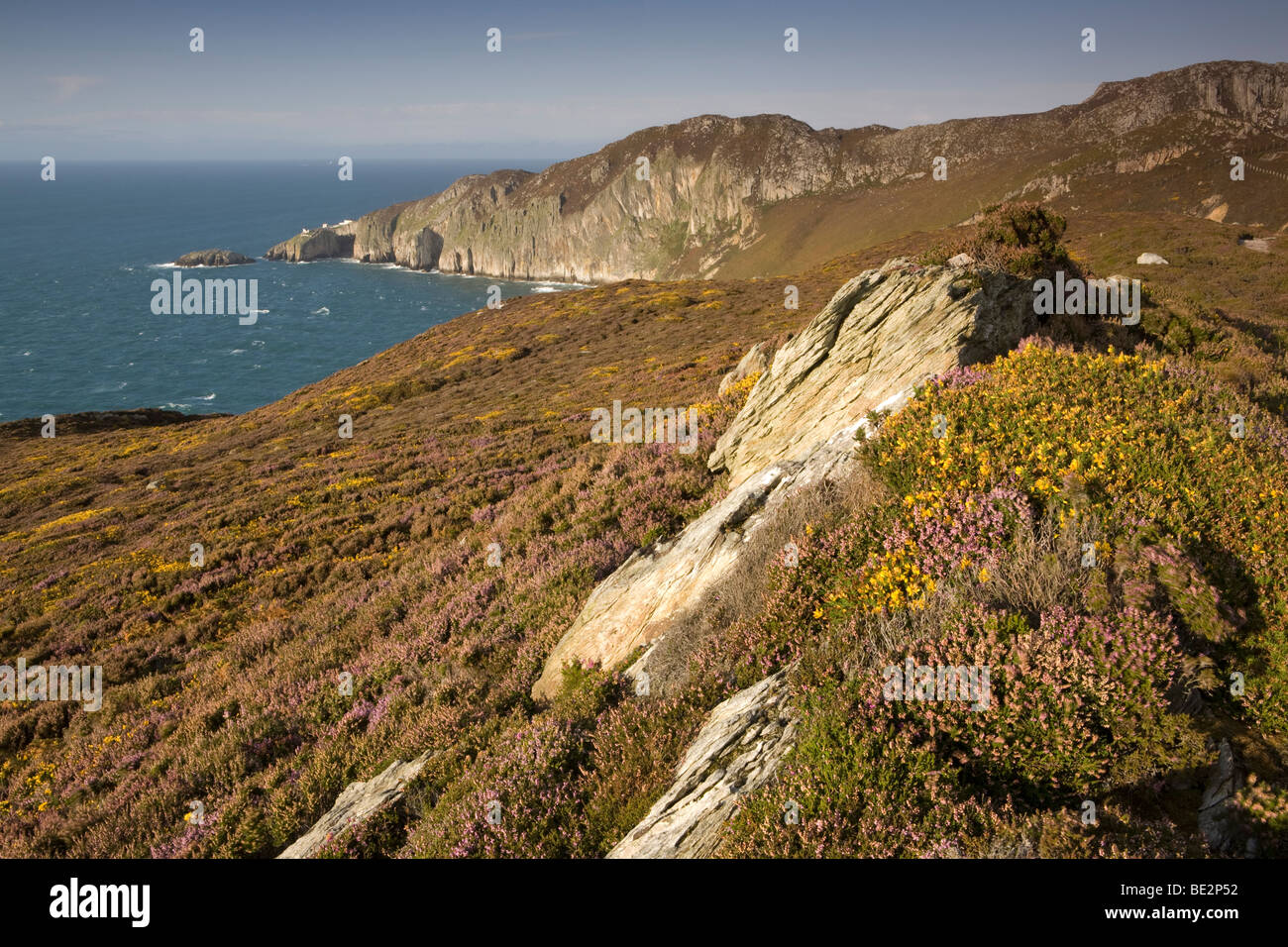 Gogarth Bay & North Stack, on the Isle of Anglesey, Wales, UK Stock Photo