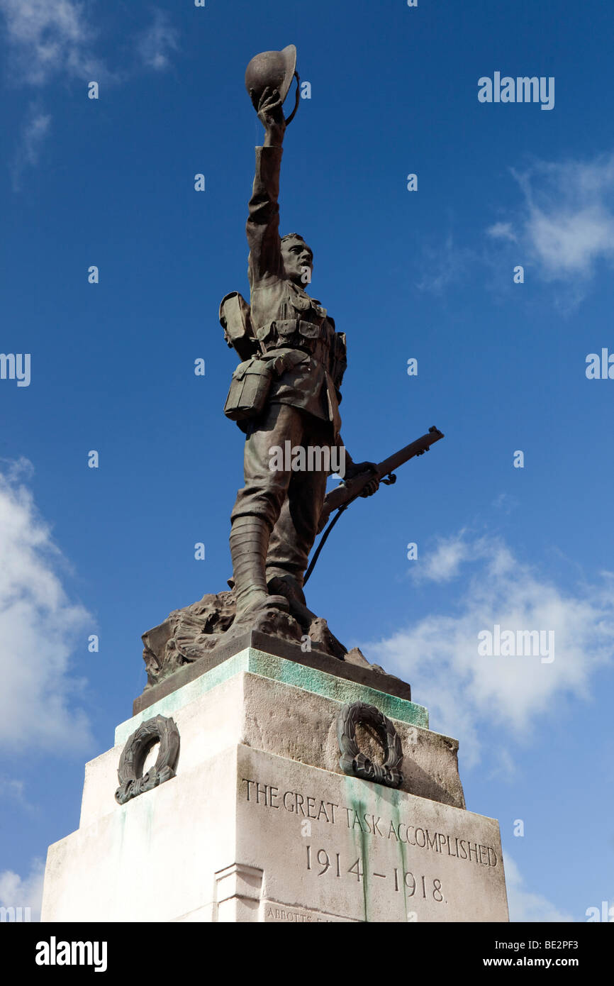 UK, England, Staffordshire, Stafford, Earle Street, Great War Memorial, The Great Task Accomplished - Stock Image
