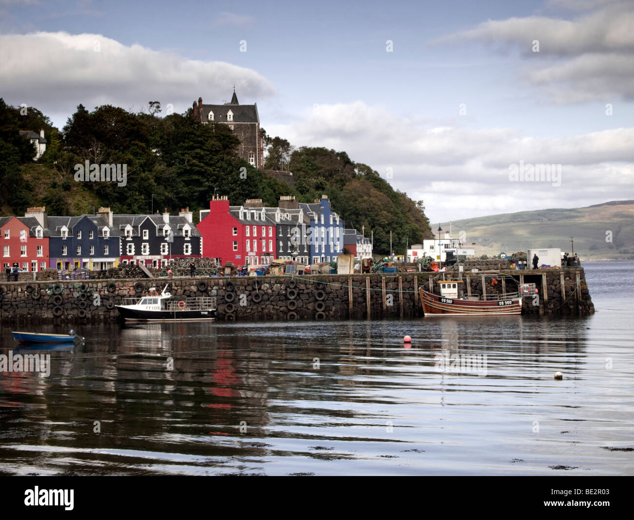 Tobermory, Isle of Mull, harbour and seafront - Stock Image