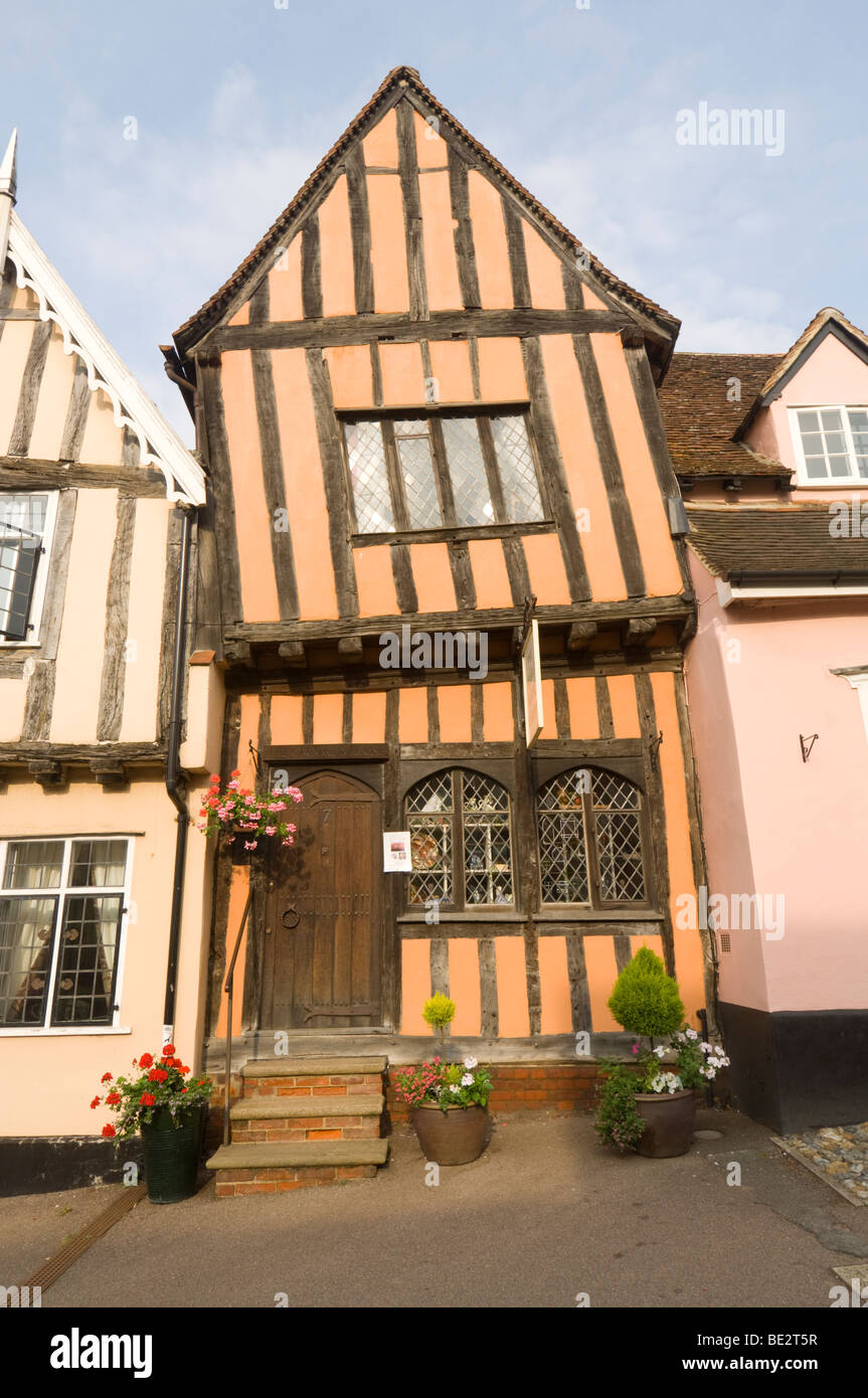 The Crooked House Lavenham Suffolk UK - Stock Image