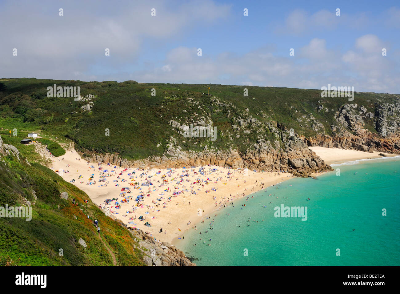 Porthcurno Bay A Beach On The Southeast Coast Of England Cornwall