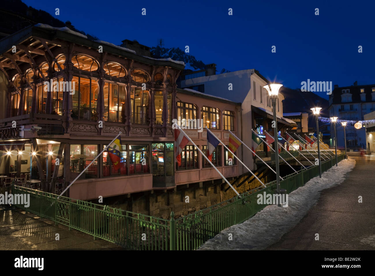 Chamonix-Mont-Blanc, French Alps, Haute Savoie, Chamonix, France - Stock Image