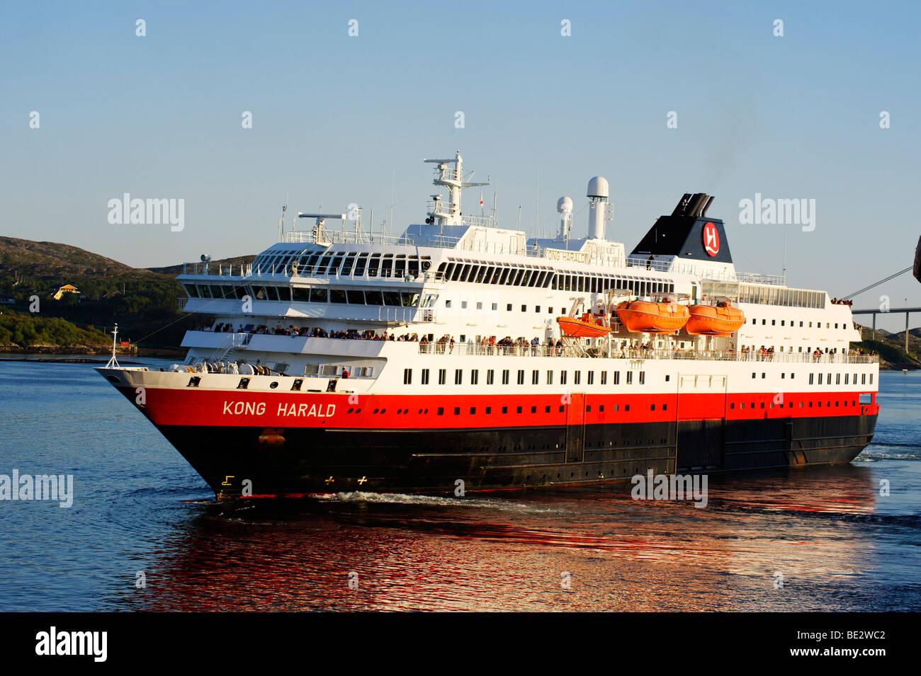 MS Kong Harald, Hurtigruten, Rorvik, Norway, Scandinavia, Europe - Stock Image