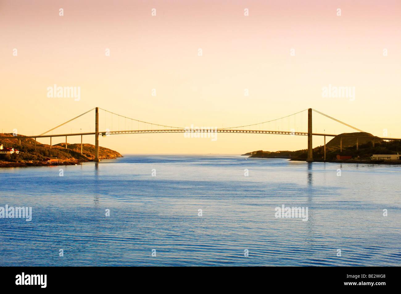 Bridge across Naeroysund, Rorvik, Norway, Scandinavia, Europe - Stock Image