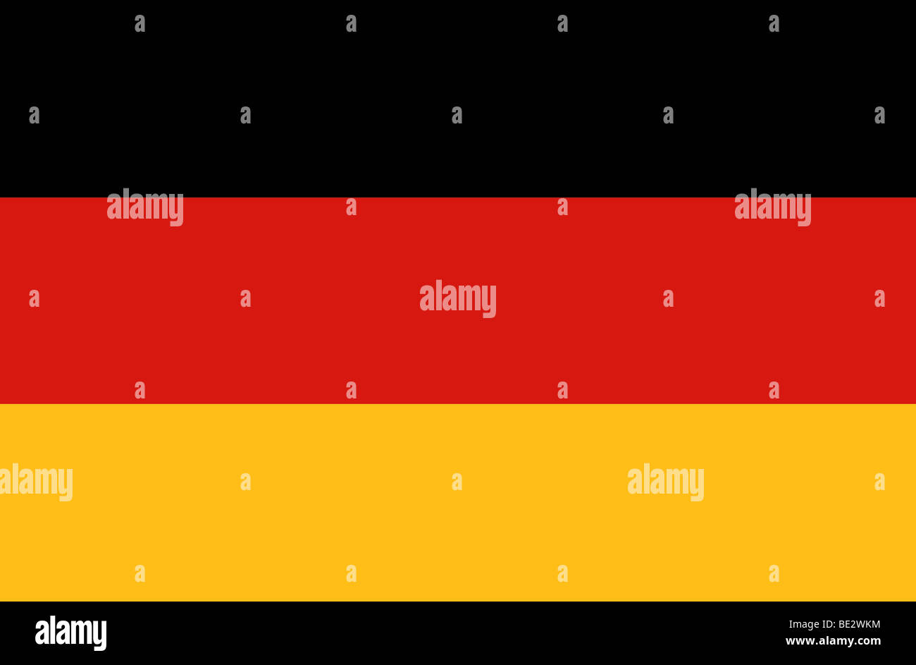German flag illustration - Stock Image