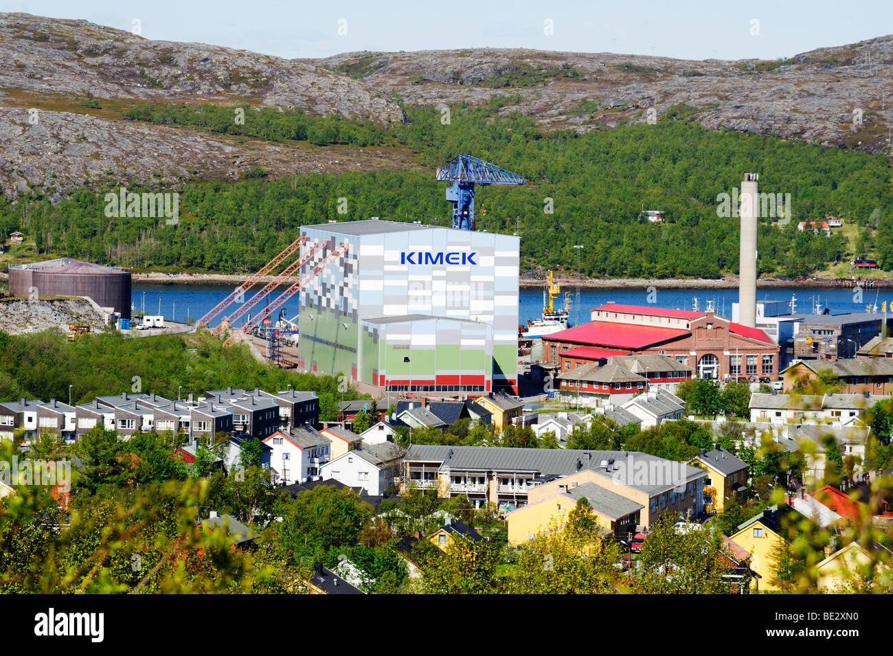 Kimek dockyard facilities, Kirkenes, Norway, Scandinavia, Europe - Stock Image