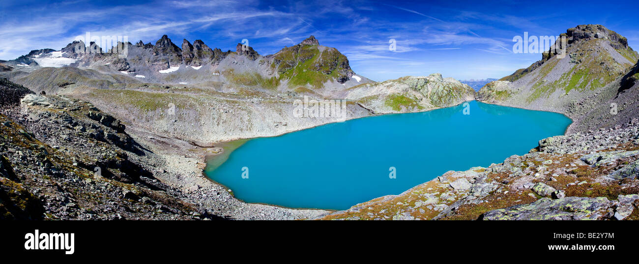 Wildsee Lake on Pizol Mountain in Heidiland near Bad Ragaz, Swiss Alps, Switzerland, Europe Stock Photo