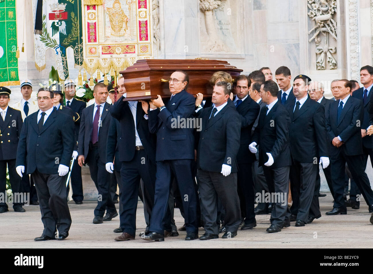 Funeral of Mike Bongiorno, Milan, ITALY, 12 september 2009 - Stock Image