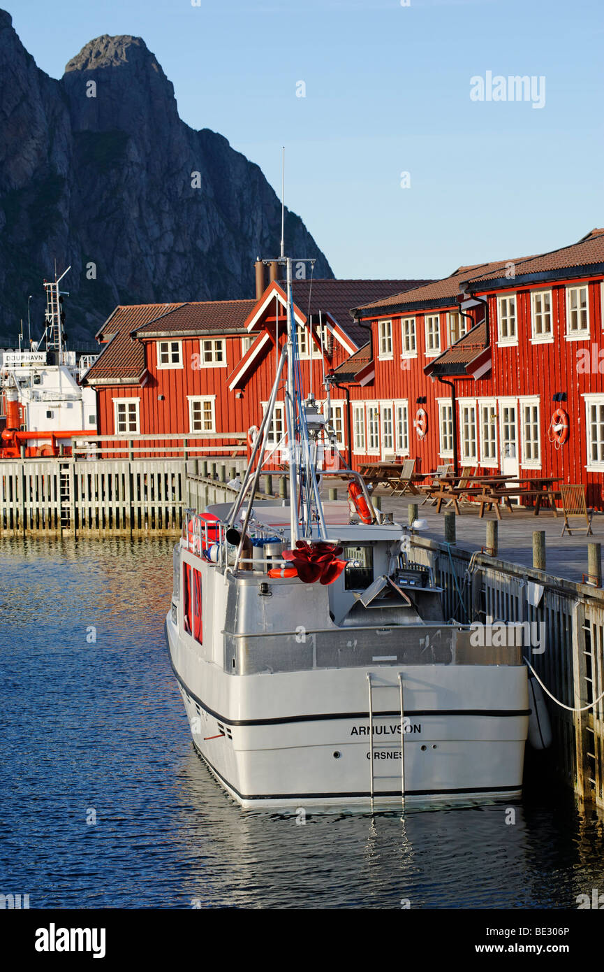 Houses at the harbour, Svolvaer, Norway, Scandinavia, Europe - Stock Image