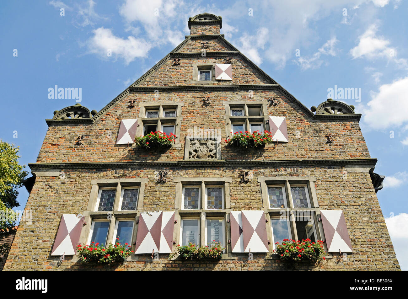 Steinhaus building, public library, historic old town, Werne, Kreis Unna district, North Rhine-Westphalia, Germany, - Stock Image