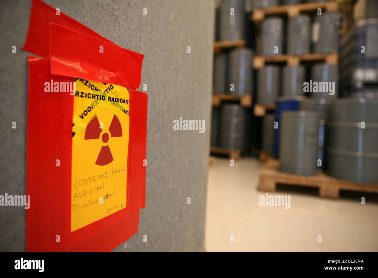 Radioactive waste in the Netherlands is stored in Nieuwdorp - Stock Image