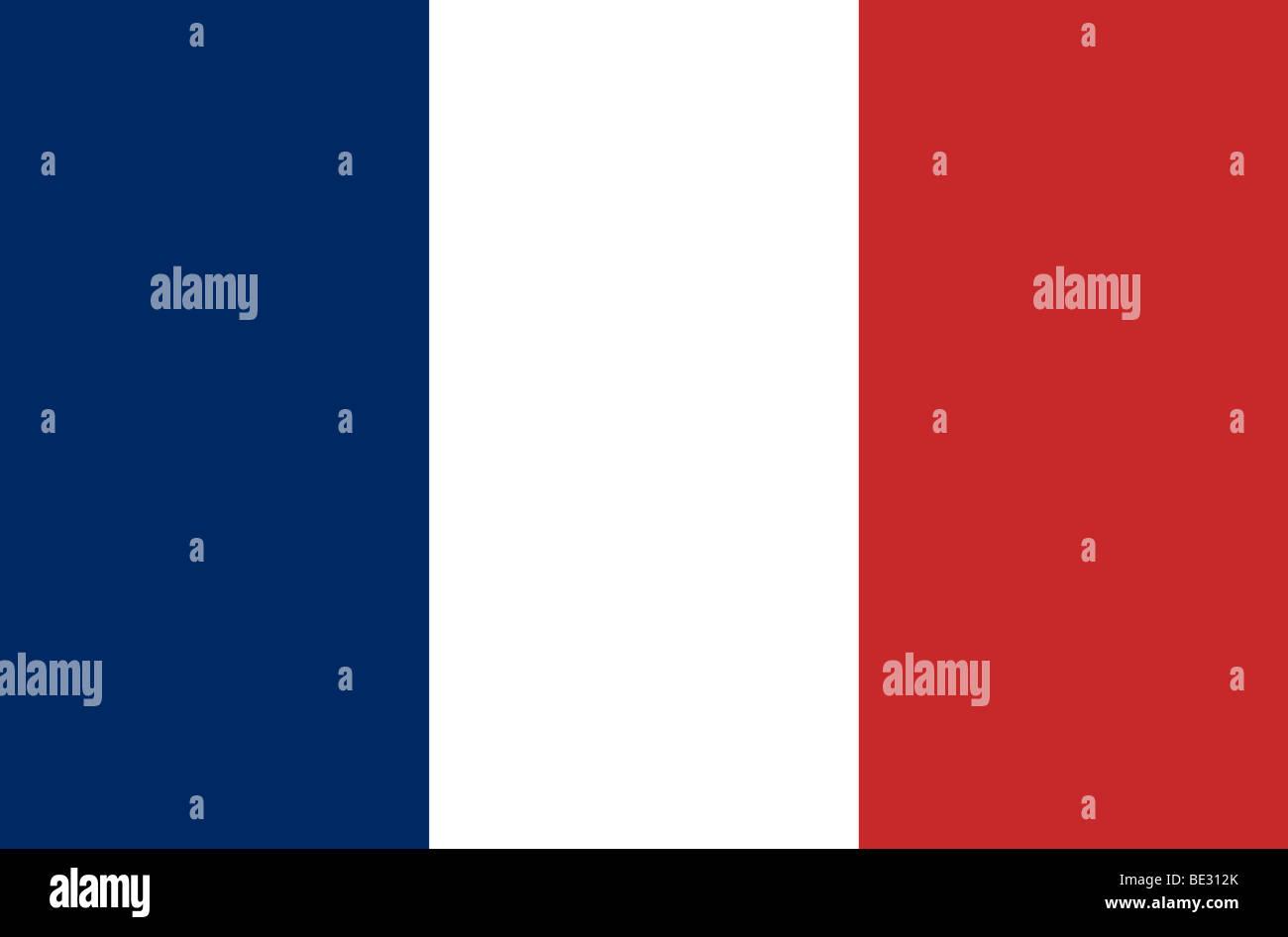 French flag illustration - Stock Image