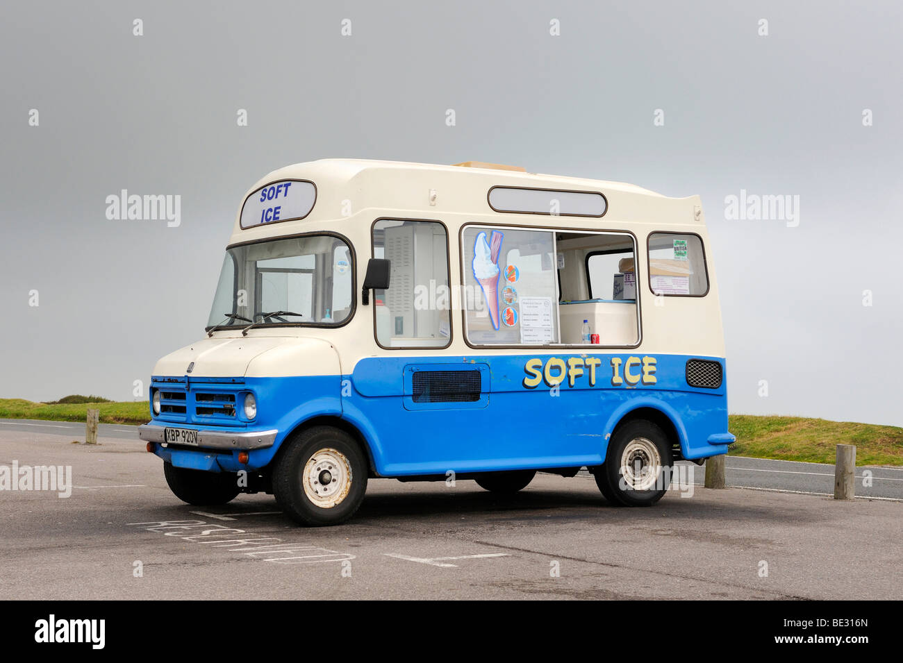 A British ice-cream van in a car park, England, UK, Europe - Stock Image