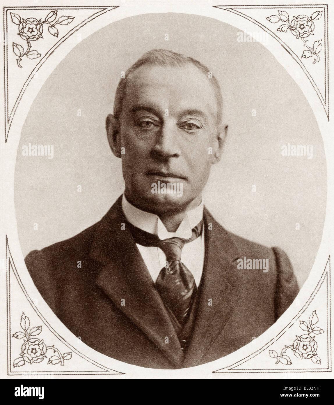 Sir Henry Bradwardine Jackson, 1855 to 1929. Admiral in the British Navy. - Stock Image