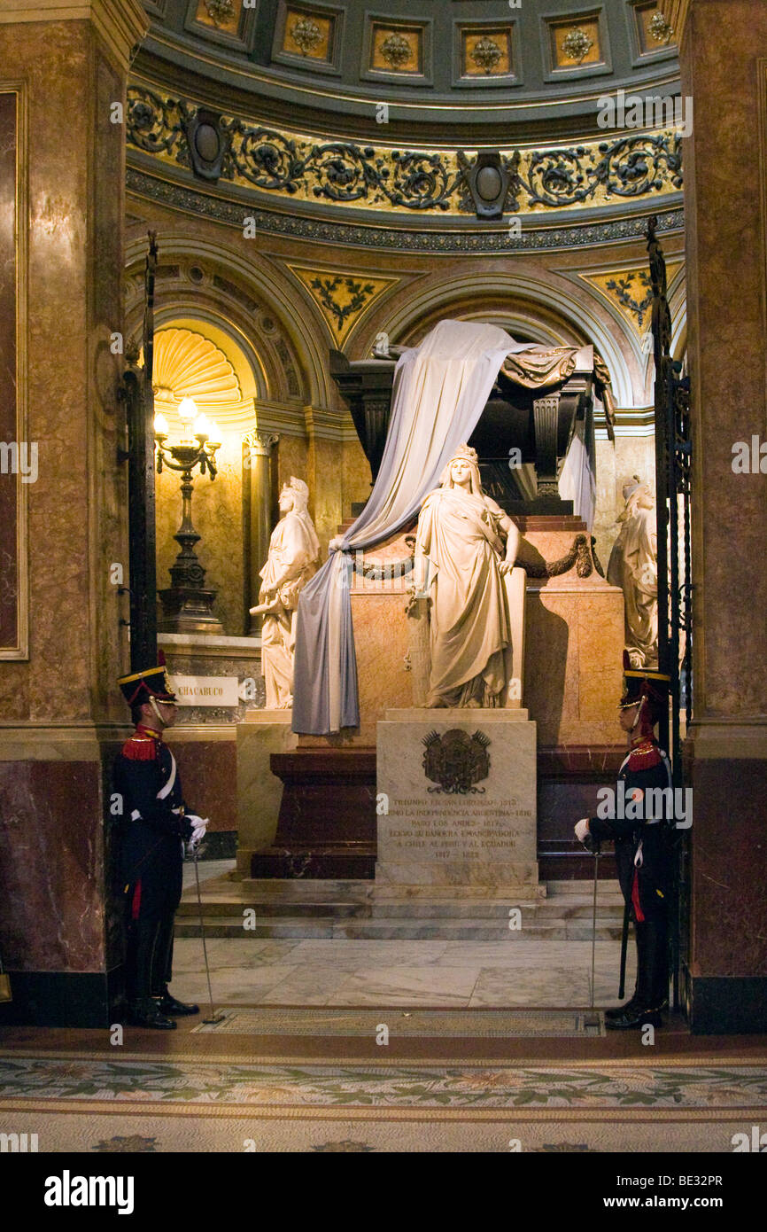 The tomb of General San Martin, Cathedral Metropolitan, Buenos Aires, Argentina - Stock Image