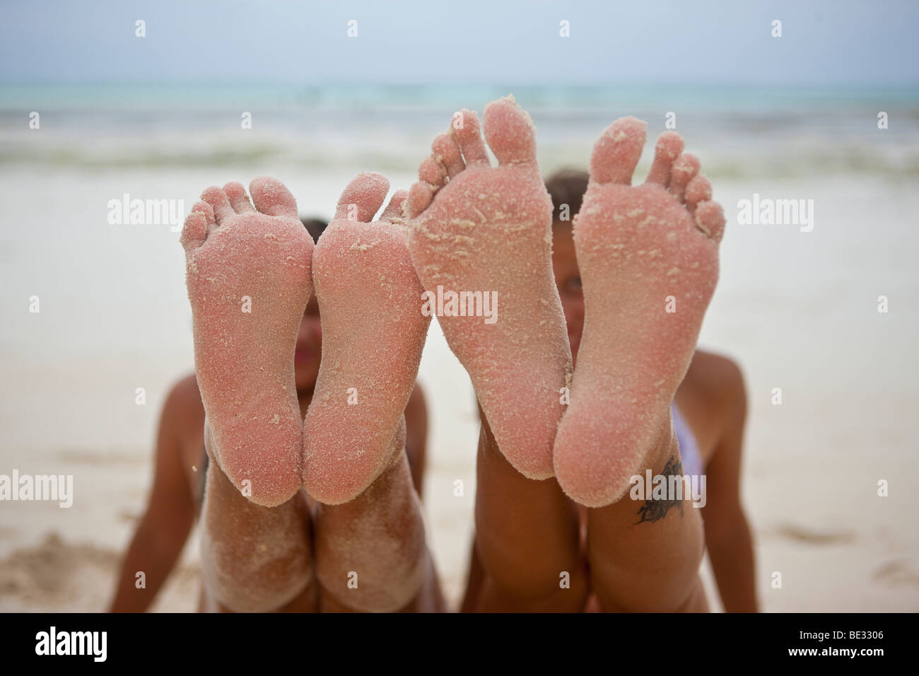 Female feet 30 year old woman