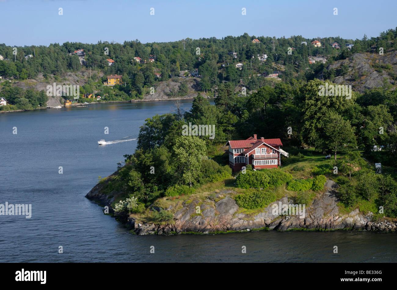 Archipelago with islands, Stockholm, Sweden, Europe Stock Photo