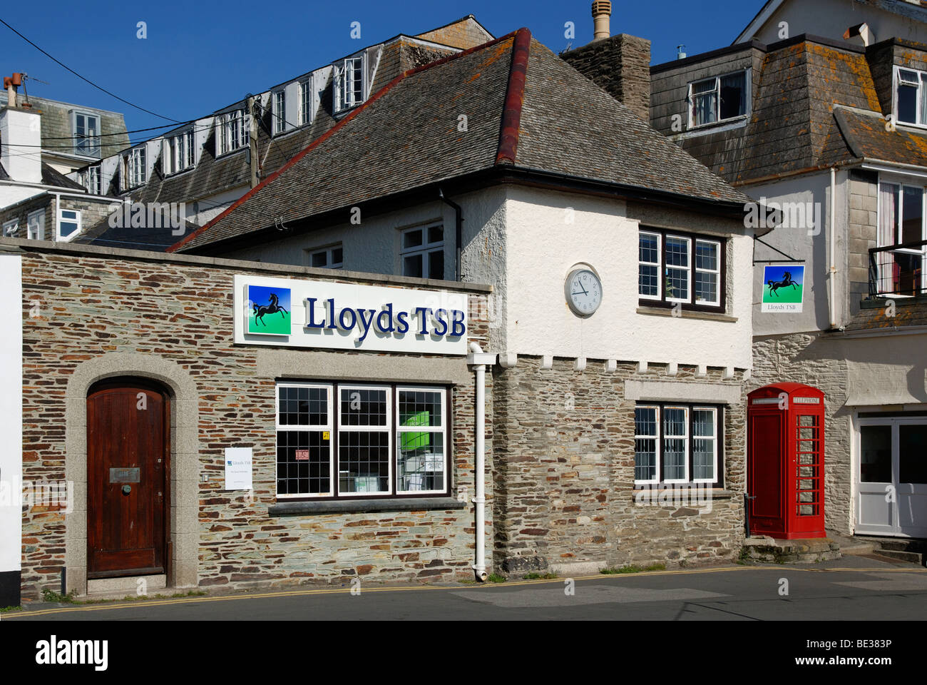 the small Lloyds TSB bank at st,mawes in cornwall, uk - Stock Image