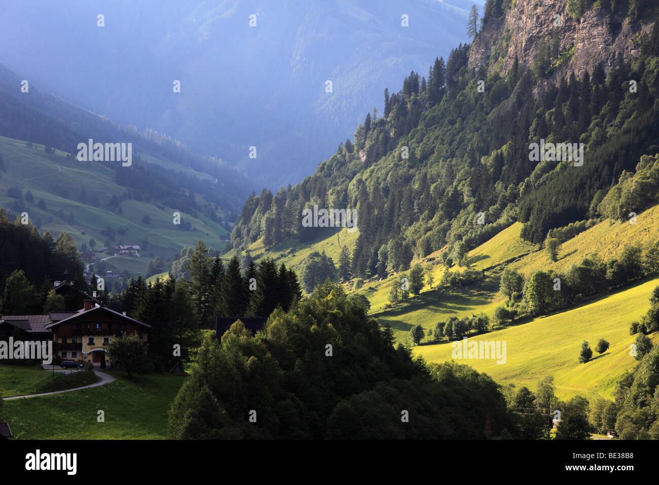 Huettschlag in the Grossarltal valley, Pongau, Land Salzburg, Salzburg, Aus - Stock Image