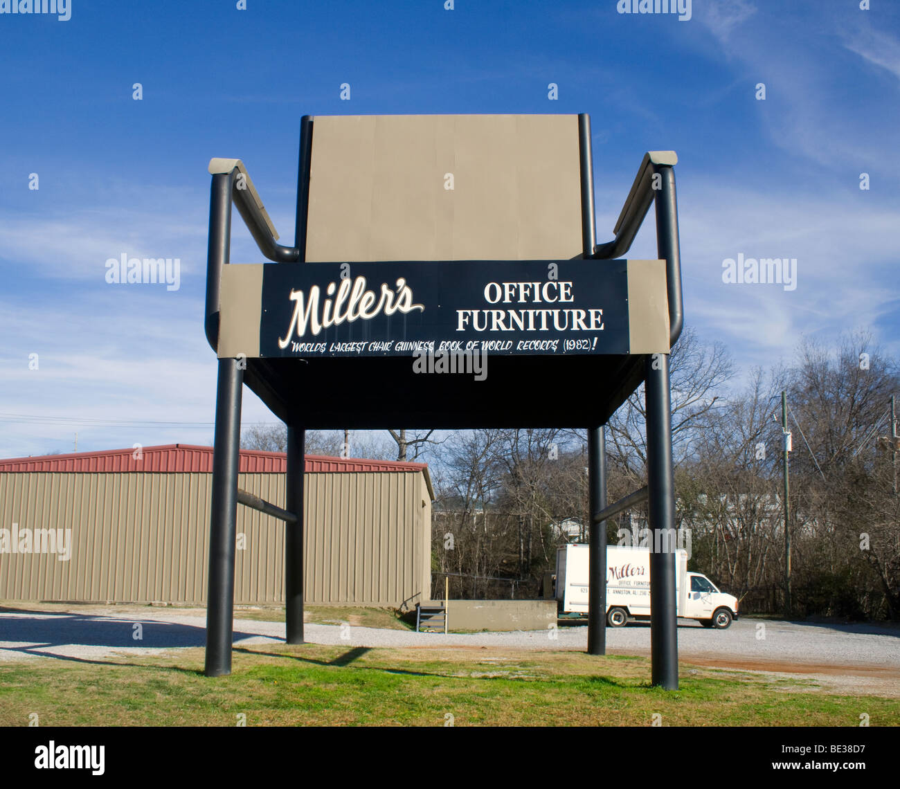 The Worlds Largest Office Chair In Anniston Alabama