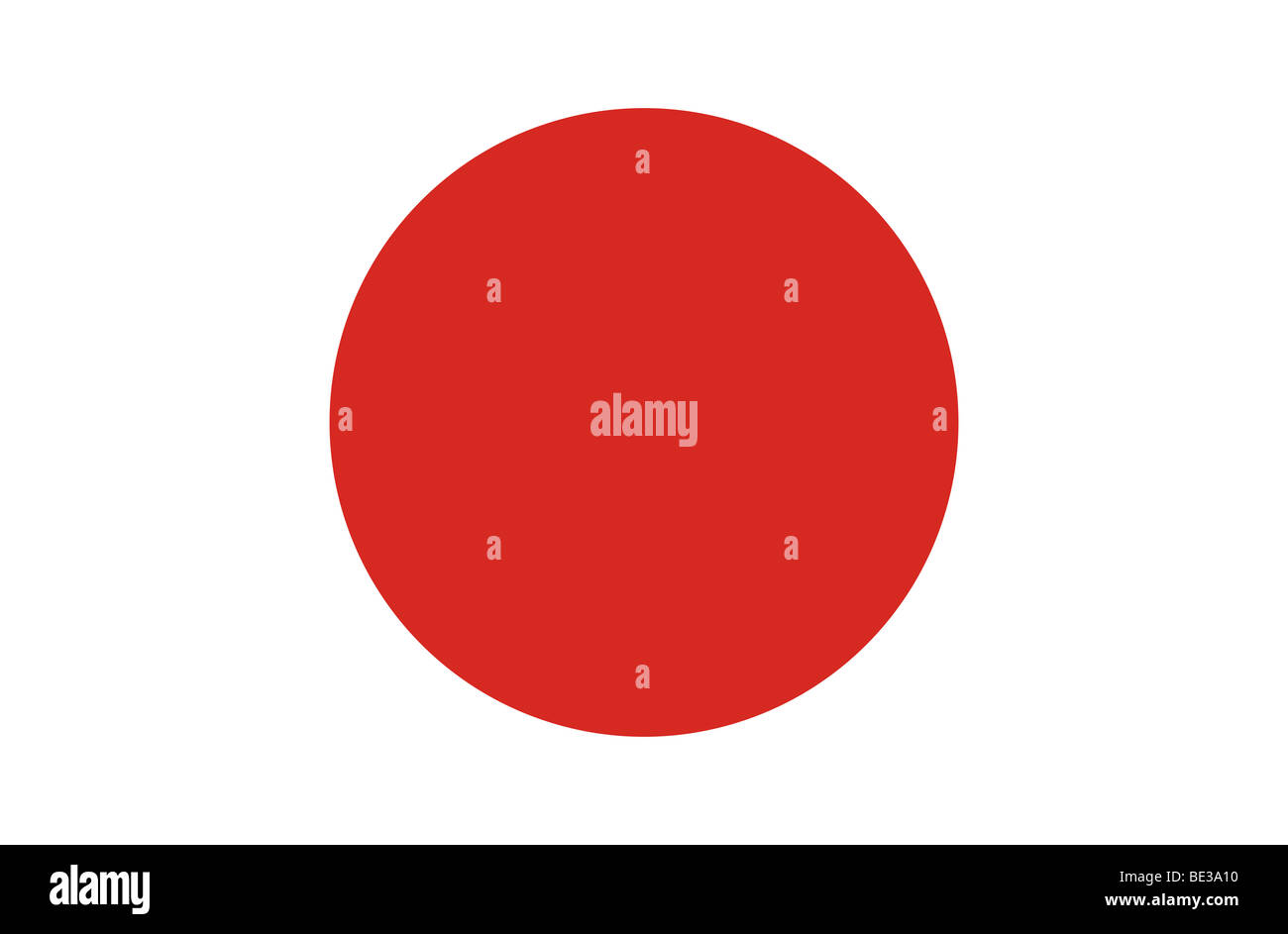 Japanese flag illustration Stock Photo