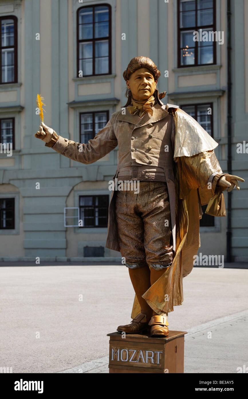 Mozart pantomime, Heldenplatz Heroes' Square, Vienna, Austria, Europe - Stock Image