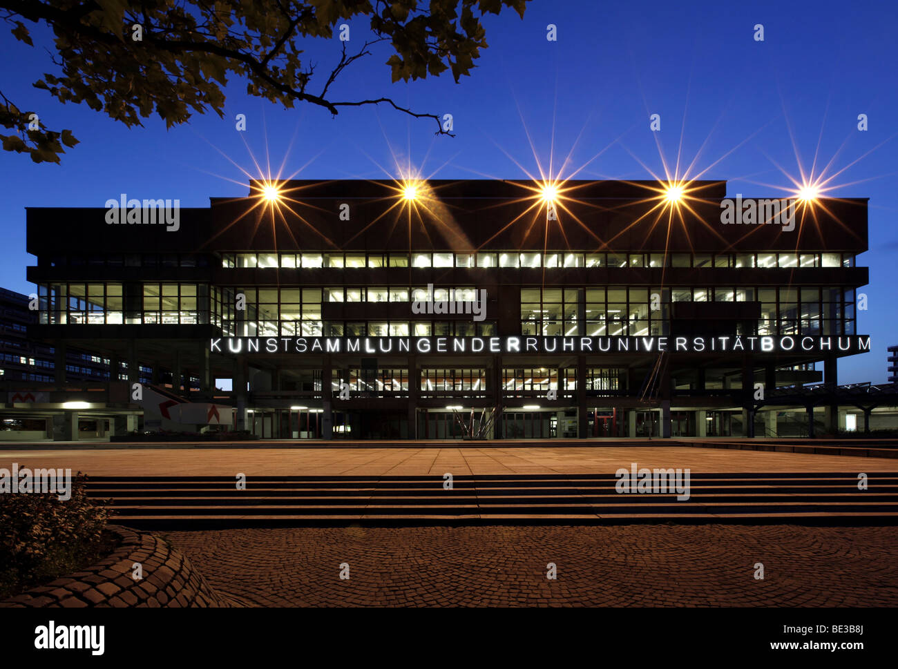 Building containing the art collection from the Ruhr University Bochum, Bochum, Ruhr, North Rhine-Westphalia, Germany, - Stock Image