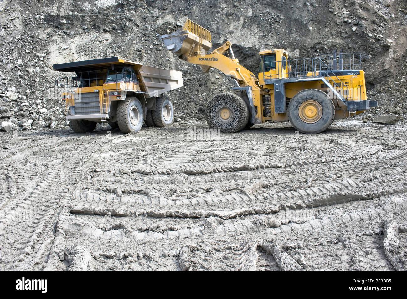 Concrete Plant Loader : Komatsu truck stock photos images