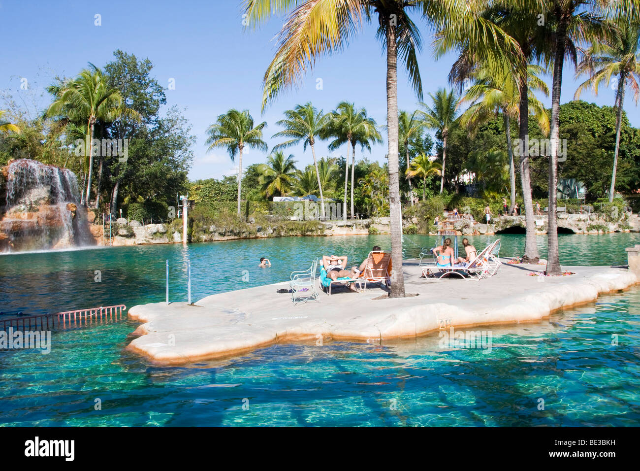 Swimming pool, Venetian Pools in Coral Gables, Miami, Florida, USA Stock Photo