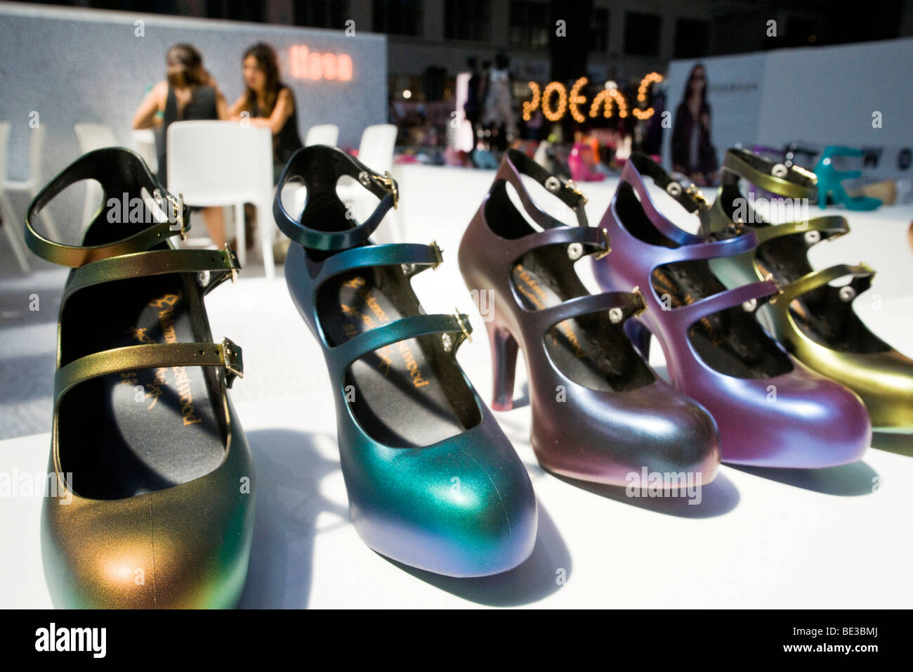 Shoe fashion in rainbow colors - Stock Image