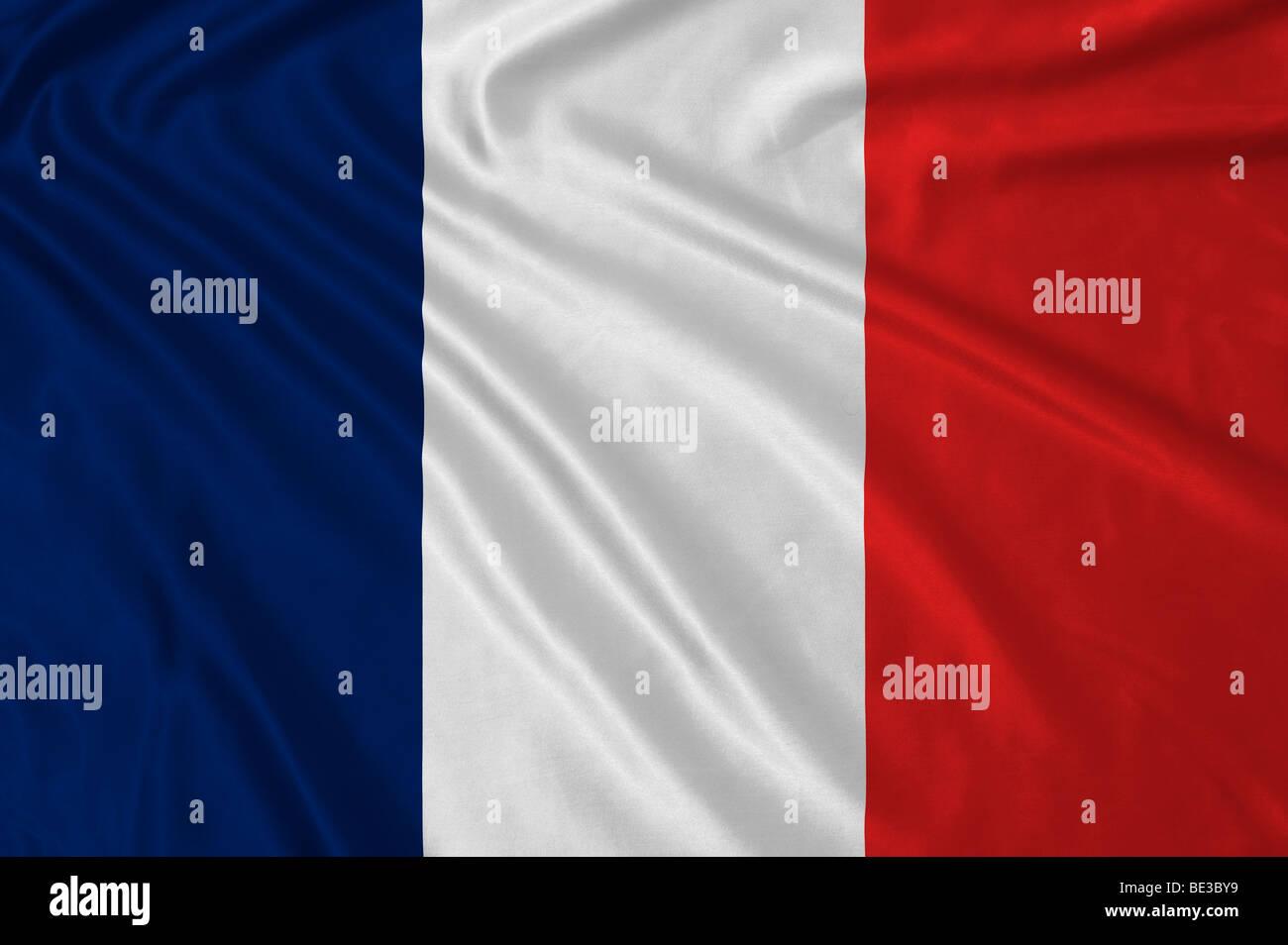 Rippled French flag - Stock Image