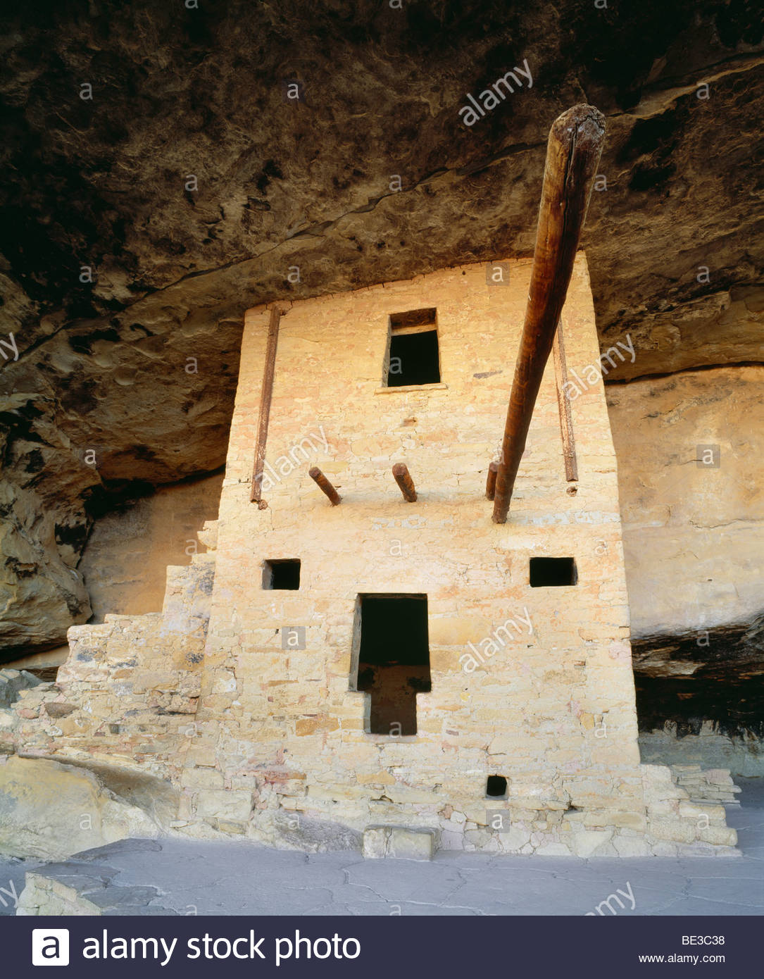 Balcony House.  Anasazi cliff dwelling at Mesa Verde National Park, Colorado. - Stock Image